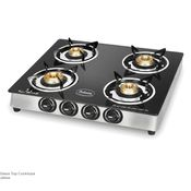 Padmini CS-4GT Jalwa Four Burner Gas Stove, standard-black