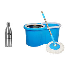 Eco Alpine Bucket Mop & Heavy Rod with Thermoflask 1000 Ml Combo, multicolor