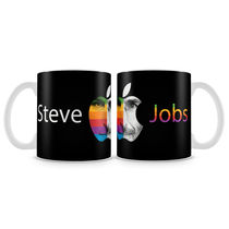 Posterboy Steve Jobs apple - wh Mug, multicolor