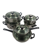 Importwala 6 Pcs Stainless Steal Cookware Set, silver