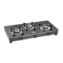 Cookplus 3 Burner Gas Stove Crystal Black-3 Gt Lava,  black