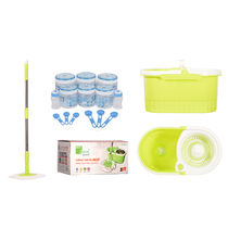 Eco Alpine Jumbo Bucket & Heavy Rod Mop with 14 Pcs Container Set Combo, multicolor
