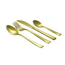 Shapes Gracia Titanium coated Glod Cutlery set of Spoons & Forks 24 Pcs With box (Dk),  silver