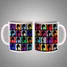Beatles Pop Art Wh Mug, multicolor