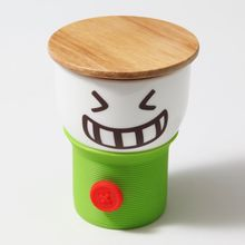 Its Our Studio Button Smiley Mug Green,  green