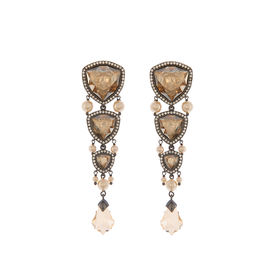 Tarun Tahiliani-Luminescent Graded Stones Earrings