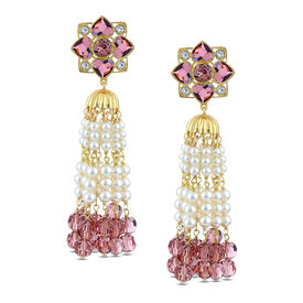 Suneet Varma - Enchanted Forest Floral Tassel Earrings