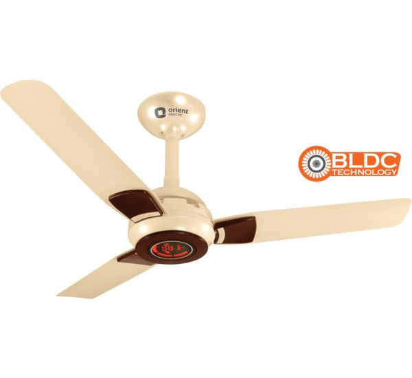 Ecogale(BLDC motor) -Premium energy efficient fan with remote 1200mm, pearl  metallic white brown