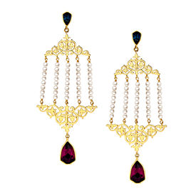 Eina Ahluwalia - Double Vine Earrings
