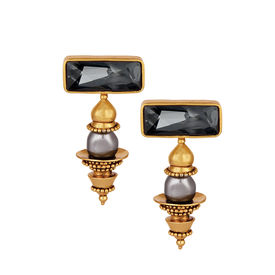 J J Valaya - Ranas Warrior Princess Dome Earrings