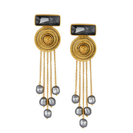 J J Valaya - Ranas Warrior Princess Drop Earrings
