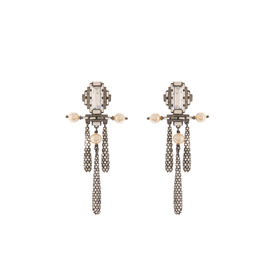 Tarun Tahiliani-Luminescent Deco Top Pave drop Earrings