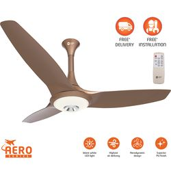 Aerolite Premium underlight ceiling fan with remote 1200mm,  brown