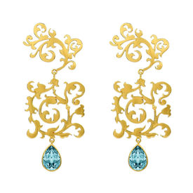 Eina Ahluwalia - Scrollwork Earrings