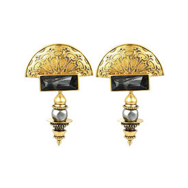 J J Valaya - Warrior Princess Melange Earrings