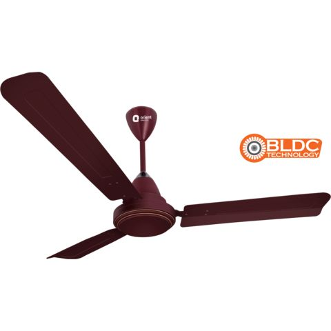 Ecotech Plus (BLDC motor) -energy efficient fan with remote 1200mm,  brown