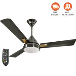 Spectra-multicolored LED underlight fan with remote 1200mm,  brushed brass