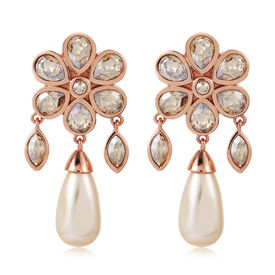 Suneet Varma - Bloom Drop Earrings-Gold