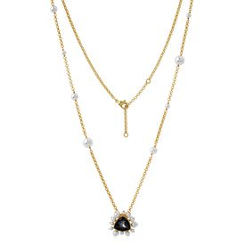 Isharya - Desert Pearl Black Diamond Necklace