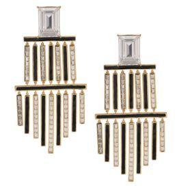 Shivan & Narresh - Monochrome Chandelier Earrings
