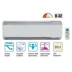 Non Inverter 2 Star 1 Ton Split Air Conditioner_ FTQ35, non inverter, cooling only, split ac