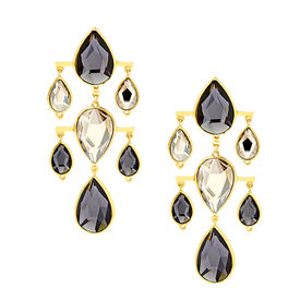 Isharya - Night Song Dew Drop Jet Earrings
