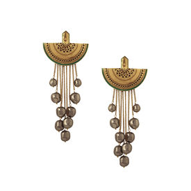 J J Valaya - Ranas Moon Drop dangle Earrings