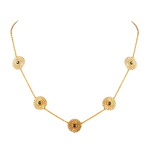 Eina Ahluwalia - Persian Jaal Disc Necklace