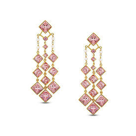 Pernia Qureshi - Dazzling Crystal Cluster Earrings