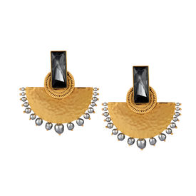 J J Valaya - Ranas Warrior Princess Half Moon Earrings