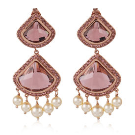 Suneet Varma - Celestial Earrings-Pink