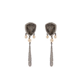 Tarun Tahiliani-Luminescent Pave Drop Studs