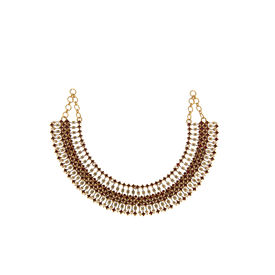Tarun Tahiliani-Luminescent Statement Deco Necklace