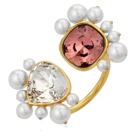Isharya - Desert Pearl Open Ring Rose