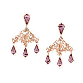 Eina Ahluwalia - La Rinascita Blush Rose Drop Earrings