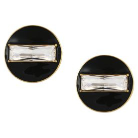 Shivan & Narresh - Black Enamel Stud Earrings