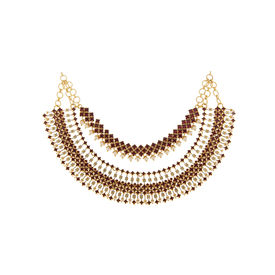 Tarun Tahiliani-Luminescent Statement Tasselated Necklace