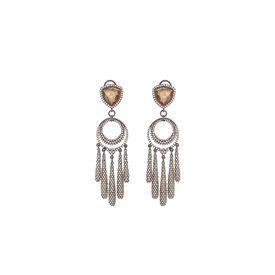 Tarun Tahiliani-Luminescent Layered Chaand Fringe Earrings