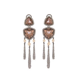 Tarun Tahiliani-Luminescent Pave Drop Earrings