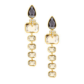 Isharya - Night Song Cascade Earrings - Crystal