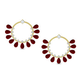 Pernia Qureshi - Majestic Crystal Hoop Earrings
