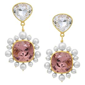 Isharya - Desert Pearl Rose Drop Earring