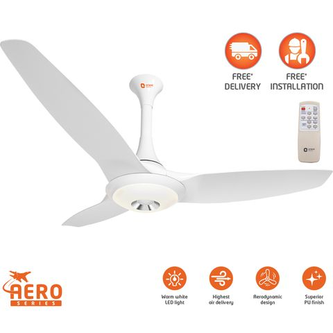 Aerolite Premium underlight ceiling fan with remote 1200 mm,  brown