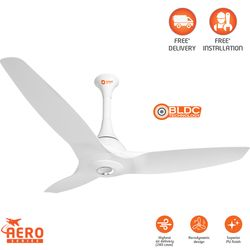 Aeroquiet (BLDC motor) -Premium energy efficient fan with remote,  white