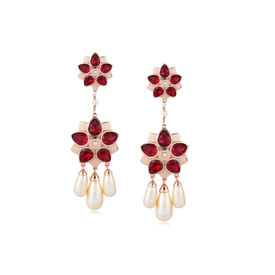 Suneet Varma - Red Floret Earrings