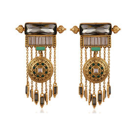 Amrapali - Baroque Shield Earrings