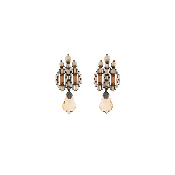 Tarun Tahiliani-Luminescent Deco Studs