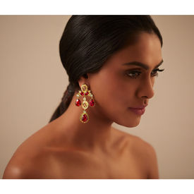 Pernia Qureshi - Enchanted Crystal Drop Earrings