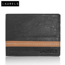 Laurels Falcon Men's Wallet (LW-FLCN-0206), black and beige