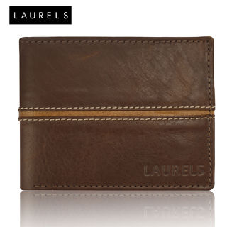 Laurels Raider Men's Leather Wallet (LW-RDR-0906),...